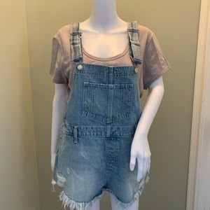 NEW! Free People Denim Short Overalls Size 29